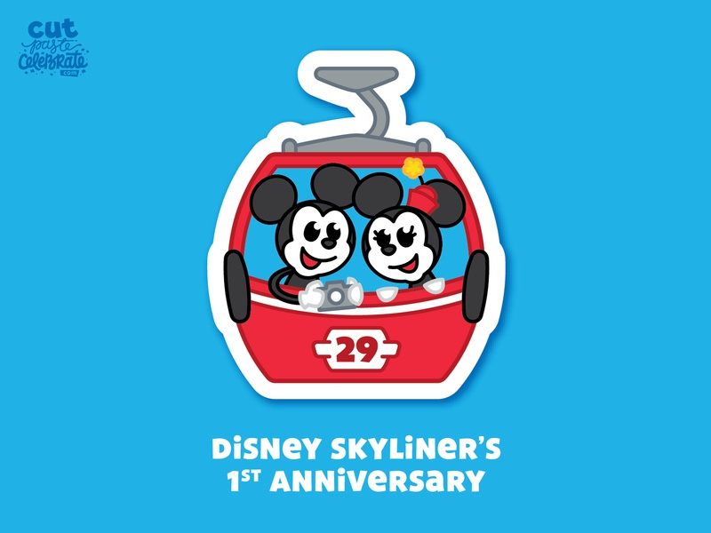 September 29 - Disney Skyliner's 1st Anniversary digital disney skyliner disney skyliner mickey and minnie mickey and minnie minnie mouse mickey mouse gondola skyliner skyliner disney world