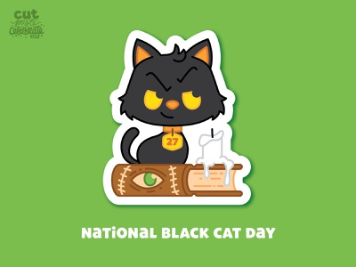 October 27 - National Black Cat Day sanderson sisters hocus pocus halloween candle spell book cat black cat national black cat day national black cat day