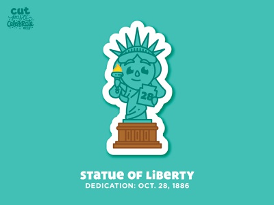 October 28 - Statue of Liberty Dedication Day stars freedom proudtobeanamerican proudtobeanamerican usa chibi dedication lady liberty statue of liberty
