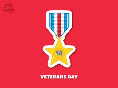 November 11 - Veterans Day vector freedom armistice silver star medal of honor veterans day veteran