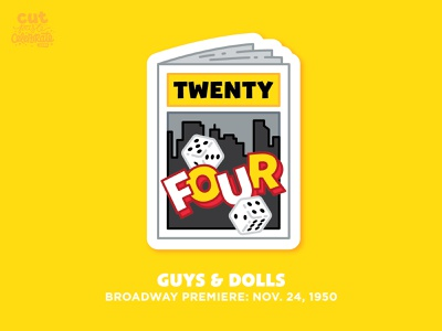 November 24, 1950 - Guys & Dolls Broadway Premiere musical nyc program dice playbill broadway