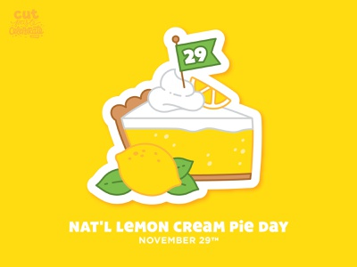 November 29 - National Lemon Cream Pie Day pie celebrate every day national lemon cream pie day national lemon cream pie day lemon cream pie lemon cream pie lemon