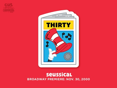 November 30, 2000 - Seussical Broadway Premiere playbill seussical seussical dr. seuss cat in the hat premiere musical broadway