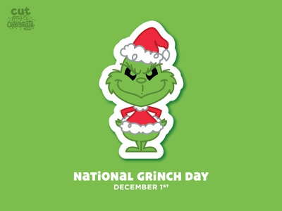 National Grinch Day grinchmas countdown to christmas fanart fan art illustration dr seuss santa santa claus grinch national grinch day national grinch day