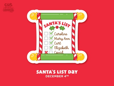 Santa's List Day - Dec. 4 december celebrations december celebrations celebrate every day santa claus santa christmas holly list nice naughty