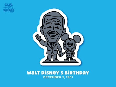 Walt Disney's Birthday - Dec. 5, 1901 disney fanart fan art mickey mouse statue disneyland walt disney world partners partners statue walt disney
