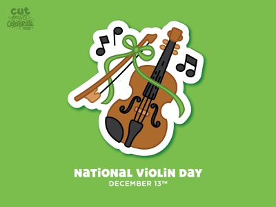 National Violin Day - December 13 celebrate every day music fiddle cute icon violin illustration national violin day national violin day violin