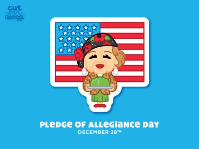 Pledge of Allegiance Day - December 28 jello patriotic christmas national lampoons aunt bethany aunt bethany christmas vacation pledge of allegiance