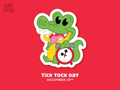 Tick Tock Day - December 29 captain hook peter pan countdown neverland disney cute crocodile clock tick tock croc tick tock croc