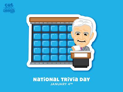 National Trivia Day - January 4 gameshow host game show host game show national trivia day national trivia day trivia alex trebek jeopardy