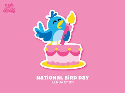 National Bird Day - January 5 singing celebration celebrate every day bird candle cake birthday bird day national bird day