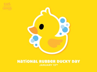 National Rubber Ducky Day - January 13 cricut cut file svg icons cute sesame street ernie bath rubber duckie duck rubber ducky