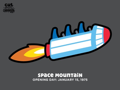 Space Mountain Opening Day - January 15, 1975 spaceship cricut cut file svg icons rocket rollercoaster ride walt disney world disneyland disney space mountain space