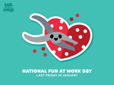 National Fun at Work Day - Last Friday in January love happy kawaii chibi cute valentine heart hole punch