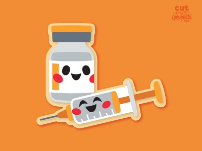 Vaccine Buddies svg icons cute kawaii shot vaccination covid-19 covid vaccine