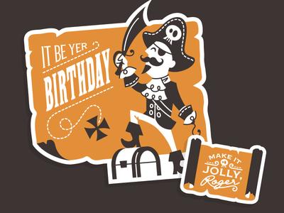 Pirate Birthday Card by Curt R Jensen Dribbble – Pirate Birthday Card