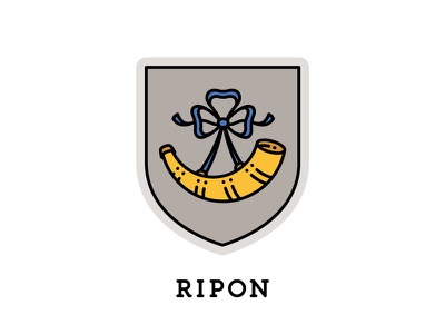 Ripon, England united kingdom uk ripon shield heraldry england horn crest coat of arms