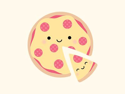 You've stolen a PIZZA my heart! enamel pin pepperoni pizza love pun punny so punny puns kawaii doodlebug doodlebug design