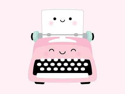 You're just my TYPE! paper typewriter couple love pun punny so punny puns kawaii doodlebug doodlebug design