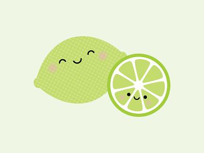 LIME yours! doodlebug design doodlebug kawaii citrus lime puns so punny punny pun