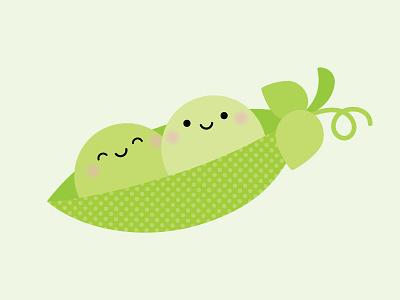 PEAS be mine! doodlebug design doodlebug kawaii vine green peas peapod peas puns so punny punny pun