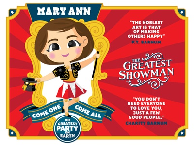 The Greatest Showman Birthday Invite