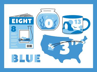 Blue delicate arch scrapbook new york utah mug starbucks america fish bowl magazine blue number chart color chart