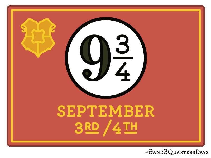 9 and 3 Quarters Days 9and3quarters 34 9 witch wizard platform hogwarts wizarding world harry potter 9 34