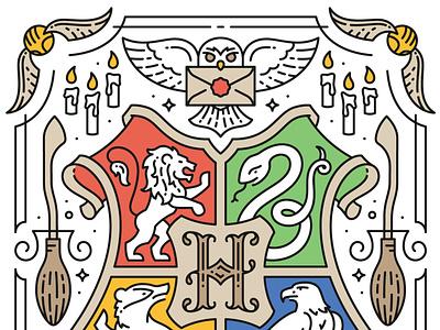 Hogwarts Christmas Card h envelope seal envelope fan art broom christmas card harry potter candles owl hogwarts