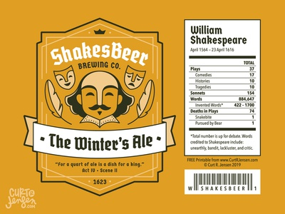 ShakesBeer Brewing Co. Labels