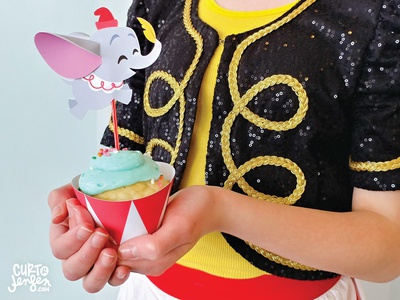 Printable Dumbo Cupcake Topper