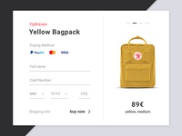 Daily UI Challenge #02 Checkout