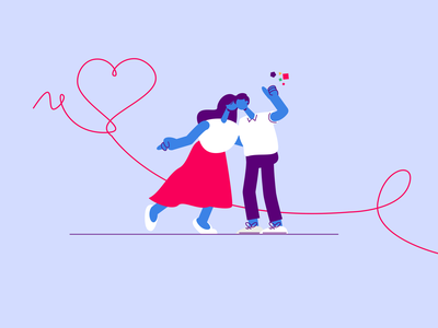Besedo Perfect Match character design perfect match love illustration explainer video animation