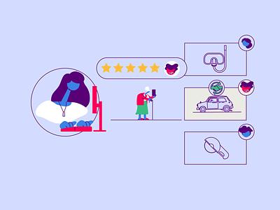 Besedo Share Economy socialmedia share economy explainer video infographic illustration animation