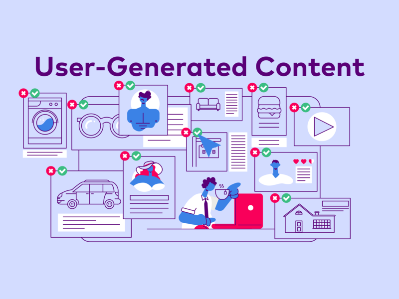 Besedo User-Generated Content characterdesign office ugc user generated content explainer video infographic illustration animation