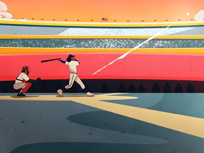 Baseball Styleframe Catcher video illustration character characterdesign baseball styleframes animation