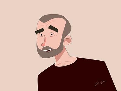 Joakim Agervald Self Portrait 2021 joakim agervald cartoon character self portrait character design illustration