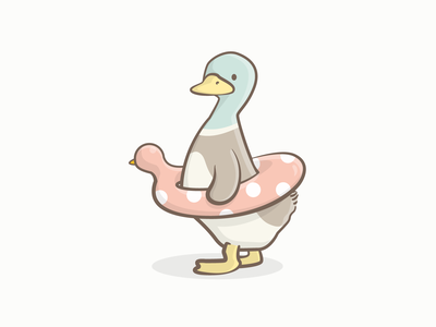 Cool to be safe illustration fun tont dork duck icon