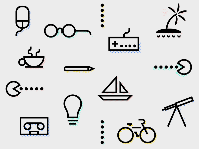 Geek Icons icons easy thick lines line art fun geek icon geek icons