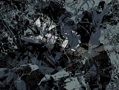 Light Shines on Dark grey black vector art vector