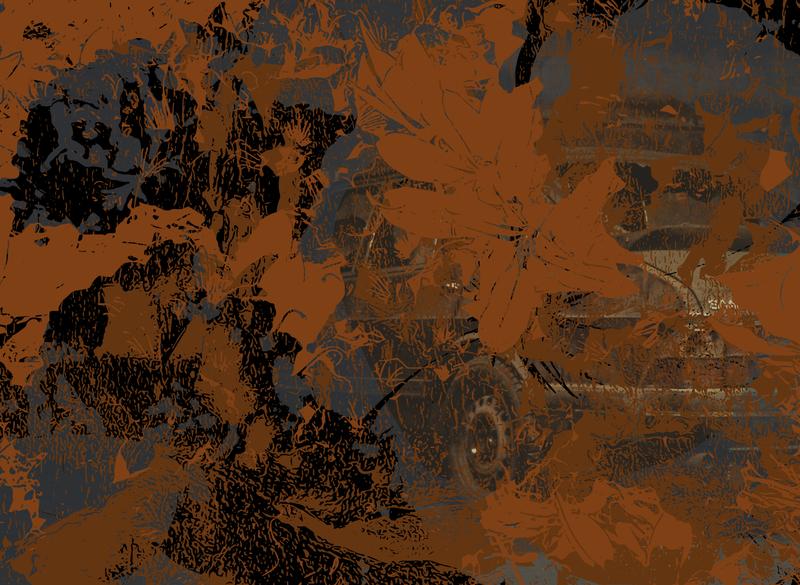 Still Hazy brown black vector art vector