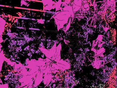Darkness to Bright orange pink black vector art vector