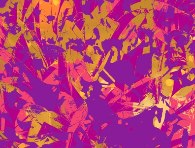Vivid Sunny yellow purple pink vector art vector