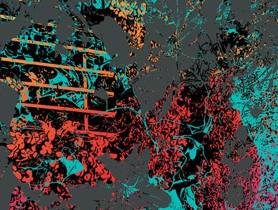 Light with Elements of Dark orange red greens vector art vector