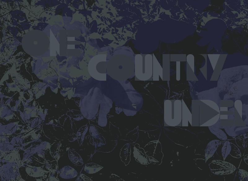 One Country Under gray black vector art vector