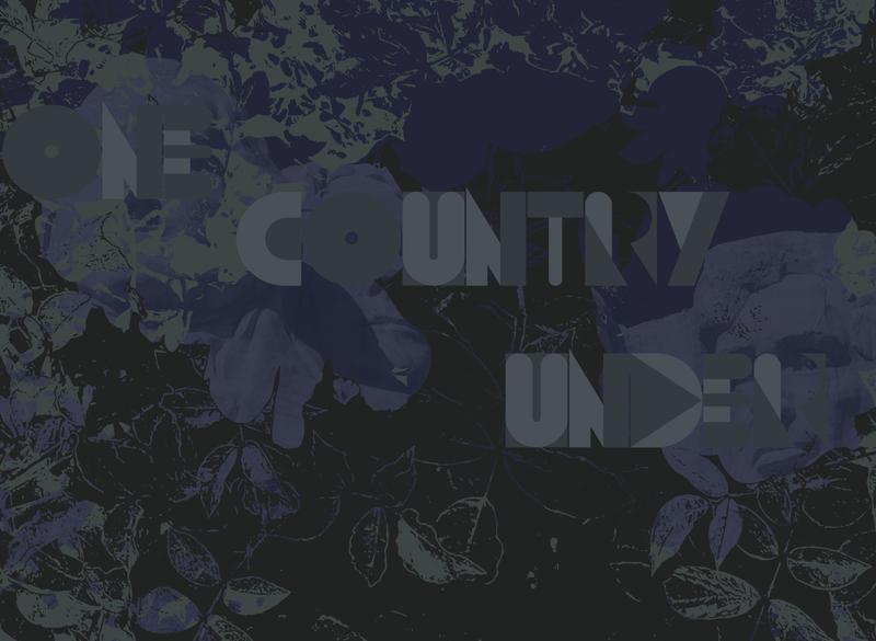 One Country Under grey black vector art vector