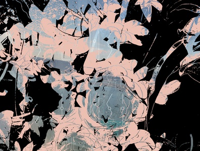 Confusion pink black vector art vector