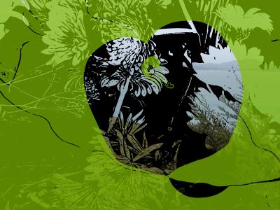 Green see through green black vector art vector