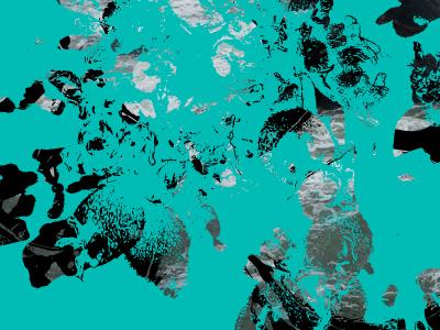 Teal on Black with Ocean ocean black teal vector art vector