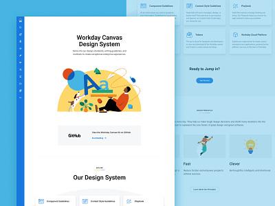 Workday Canvas Design System - Visual Update illustration enterprise enterprise ux marketing site marketing fausto hr workday design system workday design systems workday canvas design system canvas